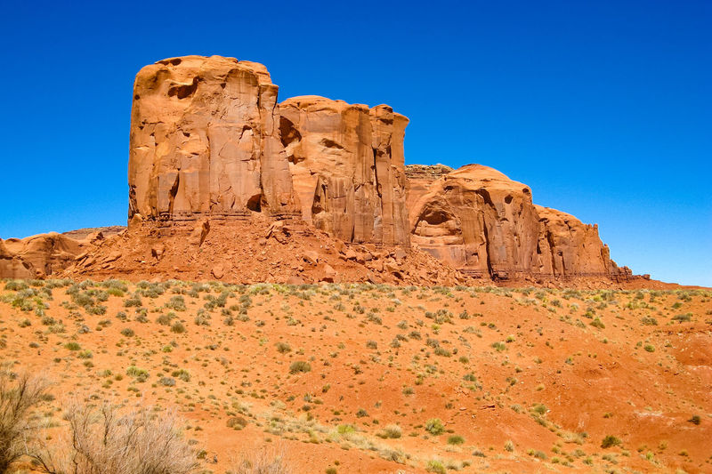 Monument Valley Rock Formation Western USA Rocky Landscape Eroded Mountain Old West  Rocky The Old West Sandstone Geological Formation Scenic Landscapes Geological Formations Eroded Rocks Sandstone Rocks Rocky Mountains USAEroded Physical Geography Non-urban Scene Wind Erosion Rock - Object