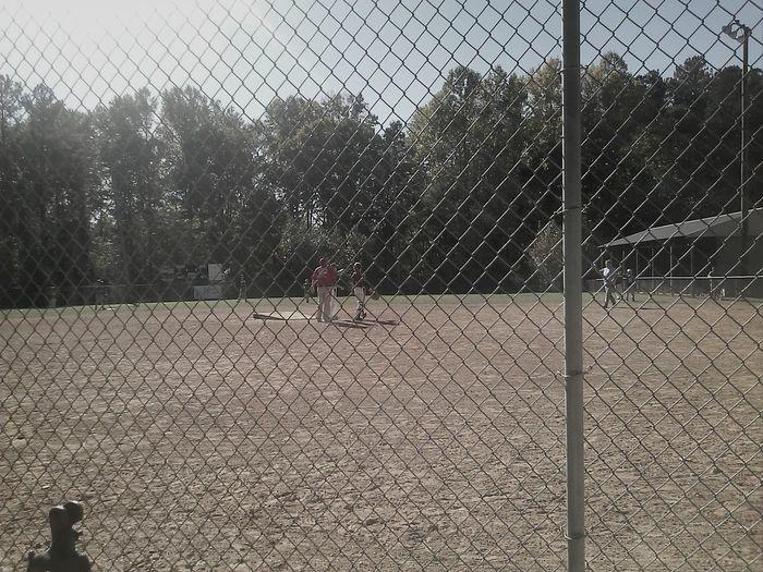 Fall balling Baseball