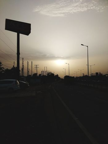 Sunset at Kolaghat City Stoplight Sky