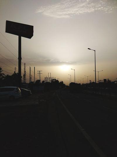 Sunset at Kolaghat City Stoplight Sky
