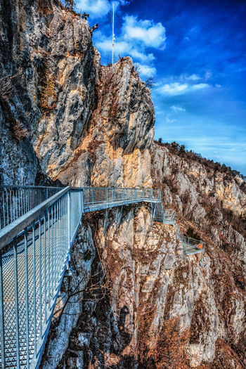 Berge Felsenpfad Architecture Blauer Himmel Bridge Bridge - Man Made Structure Built Structure Cloud - Sky Connection Dam Day Formation Fuel And Power Generation Hohe Wand Mountain Nature No People Outdoors Rock Rock - Object Rock Formation Sky Transportation Travel Travel Destinations