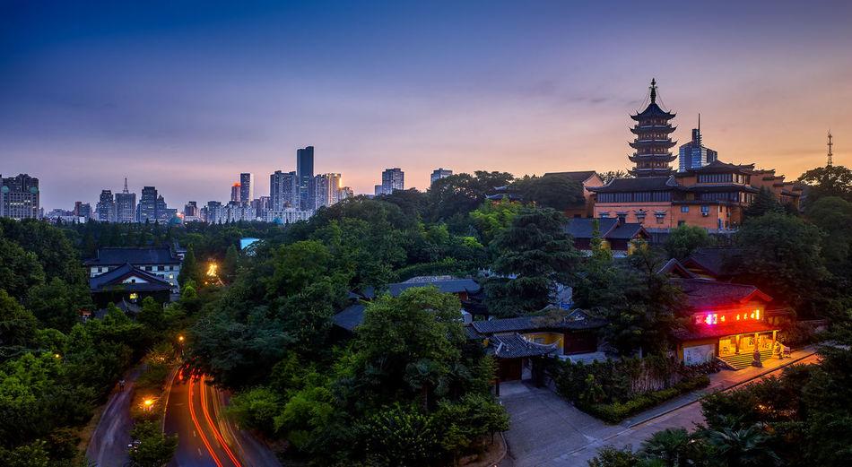夕照古寺 City Night Sky 佛教 南京 古建築 夜景 旅遊 雞鳴寺
