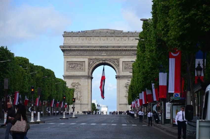 Seeing The Sights Champs-Élysées  My Best Photo 2015 Nikon D5100  Paris Arc De Triomphe France