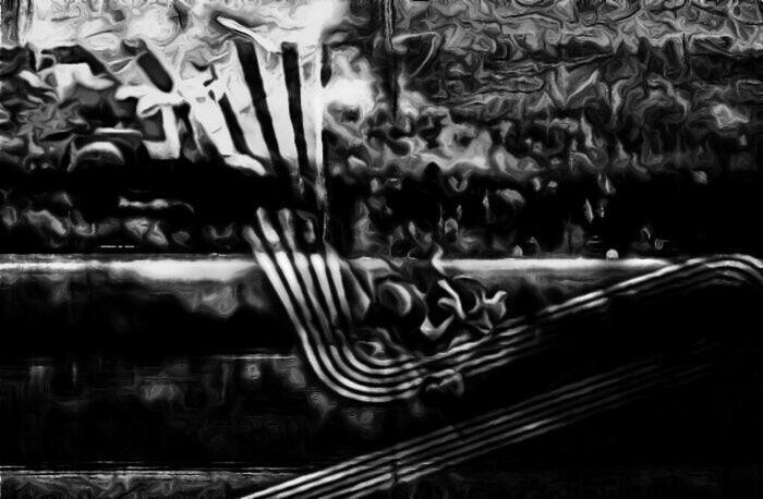 Automn black and white Père Noël Scooter