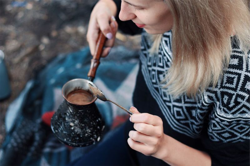Coffee time EyeEm Selects One Person Holding Adult Women Real People Focus On Foreground Young Adult Lifestyles Nature Young Women Hand Human Hand Beauty Kitchen Utensil Hairstyle Applying Leisure Activity