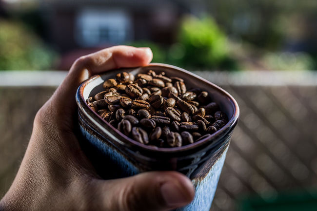 Have a break Coffee EyEm New Here Break Close-up Coffee Bean Coffee Break Cup Of Coffee Day Enjoy Enjoying Life Focus On Foreground Food Food And Drink Freshness Holding Human Body Part Human Hand Indoors  Lifestyles One Person People Raw Coffee Bean Real People Relax Women