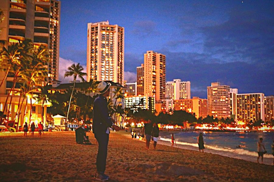 Built Structure City Tall - High Sky City Life Travel Destinations Beautiful Nice View Night View Night Honolulu  Light My Photography My Memories Me and night view