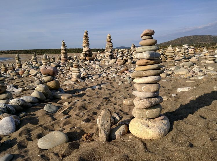 Stones Pebble Beach Stacked Stacked Up EyeEm Selects Day Outdoors Stack Desert