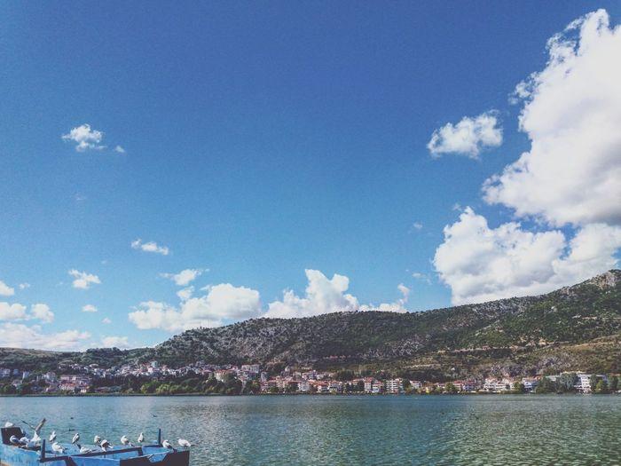 Clouds Sky Lake Littlebirds Beautiful View Sunnyday October 🌞🌞☁☁ Kastoria
