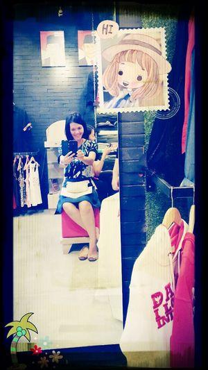 Me.. Women In Da'mirror Selfie ✌ At The Store Enjoying Life #hii..