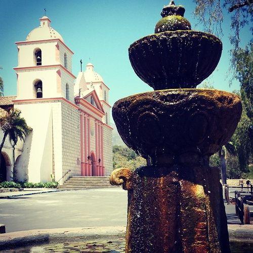 The beautiful santa barbara mission. Santabarbara Mission Old Buildings Historical Building