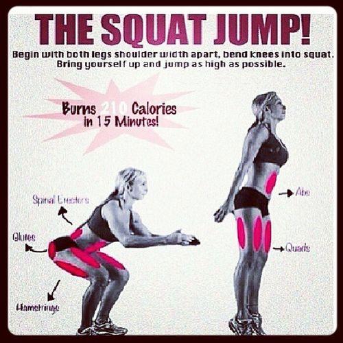 Squat Squatjump Legworkout Caloriekiller jump