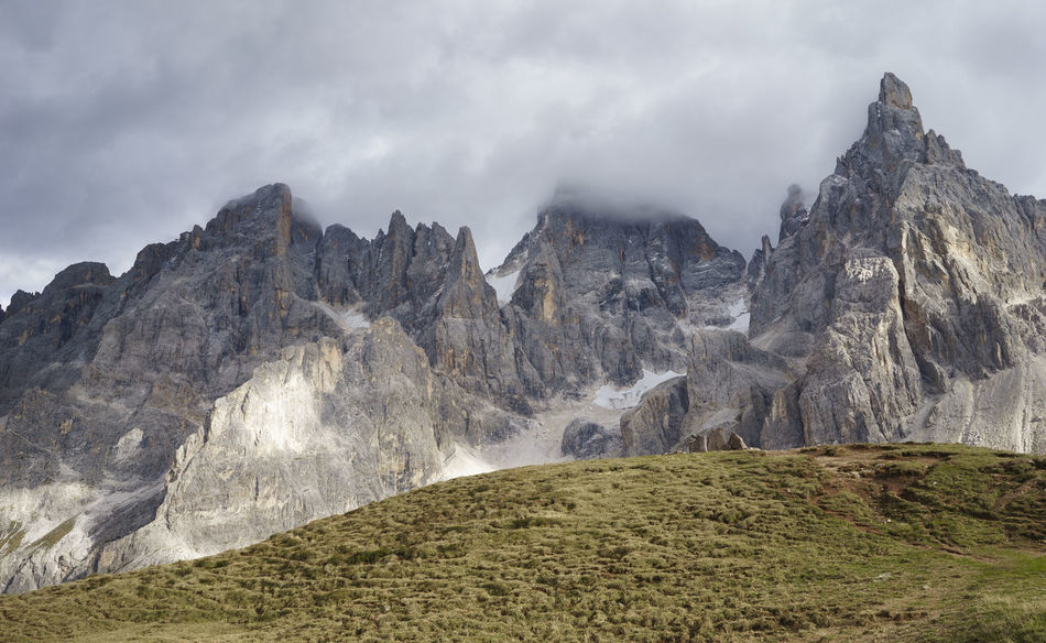 Cliff Cloudy Fiera Di Primiero Majestic Mountain Mountain Peak Mountain Range Nature No People Outdoors Pale Di San Martino Physical Geography Remote Rock - Object Rock Formation Rocky Mountains San Martino Di Castrozza Siror Storm Tranquility Trentino Alto Adige Weather