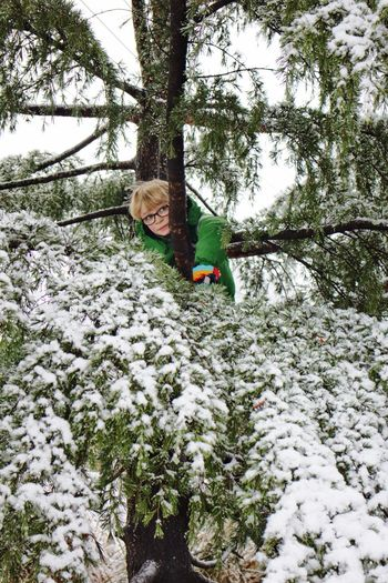 A winter day in Atlanta, Georgia Snow Winter Cold Temperature Tree Looking At Camera Fun One Person Nature Happiness Portrait Outdoors Childhood Child Day Full Length