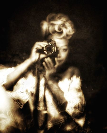 Reflections In The Glass Windows Selfie Portrait Selfie ✌ Olympus OM-D EM-1 Sepia Photography Eye Curly Hair! Curley Portrait Black Background Retro Styled
