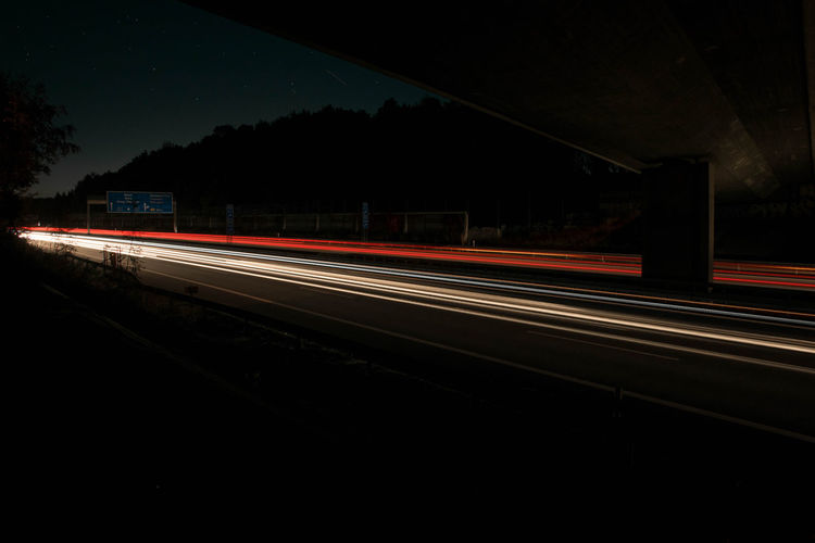 Motion lights A4 capturing motion Night Transportation Traffic Road Outdoors Blurred Motion Motion Lights Light Long Exposure Light Trail Highway Traffic Chemnitz Germany Motorway Light Strips Freeway Speed Sachsen Astronomy Star - Space Skyporn Starry Sky Welcome To Black