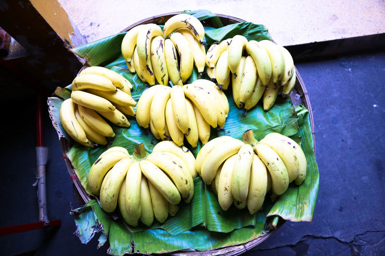 Banana Close-up Day Food Food And Drink For Sale Freshness Fruit Healthy Eating High Angle View Market No People Outdoors Retail  Vegetable