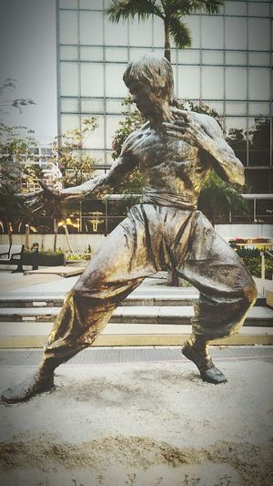 Sculpture in city