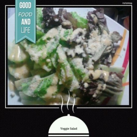 Made by yours truly. :) Caesarsalad Moreparmesanplease Greenleafyveggies Yummy solved!