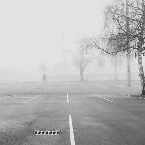 Fog Fogylondon London Cold Quiet Places Postcode Postcards Brent Cross Parking Area
