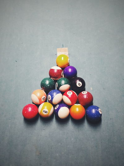 Let's play pool! Multi Colored Indoors  Table Pool Ball Sport No People Large Group Of Objects Close-up Pool - Cue Sport EyeEm Ready