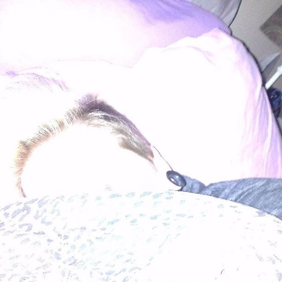 Me hiding under my Woobie and from the flash lol. Nofilter Brightlight