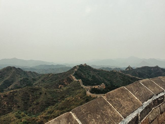 Ancient Beauty In Nature Chinese Culture Chinese Wall Chinesische Mauer Day Dynasty Fairytale  Hill Horizon Over Land Jinshanling Landscape Landscape #Nature #photography Middle Ages Mountain Mountain Range Nature No People Outdoors Scenics Sky Tranquil Scene Tranquility Travel Destinations Wonders Of The World