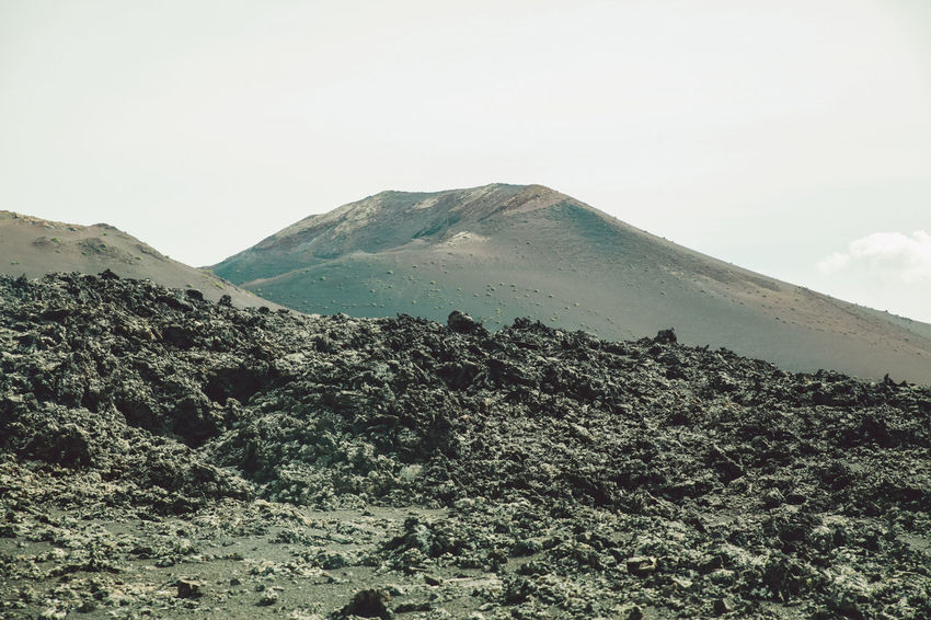 Canary Islands Lanzarote SPAIN Travel Volcanoes Arid Landscape Day Geological Formation Island Landscape Mountain Volcanic  Volcano