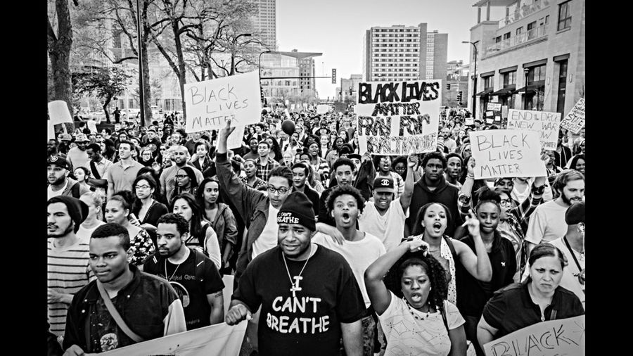 MN Rise Up and Shut it Down for Baltimore Rally - April 29th 2015. Thousands of protesters marched from Gold Medal Park along Hennipen Ave standing in solidarity with Baltimore against the death of Freddie Gray by Baltimore police officers. First Eyeem Photo Blacklivesmatter Baltimore Minneapolis Minnesota Freddie Gray Showcase June Blackandwhite