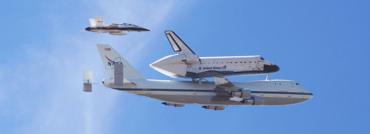 Space shuttle being brought to Los Angeles. Aerospace Industry Airplane Airshow Fighter Plane Flying Shuttle Carrier Space Shuttle First Eyeem Photo