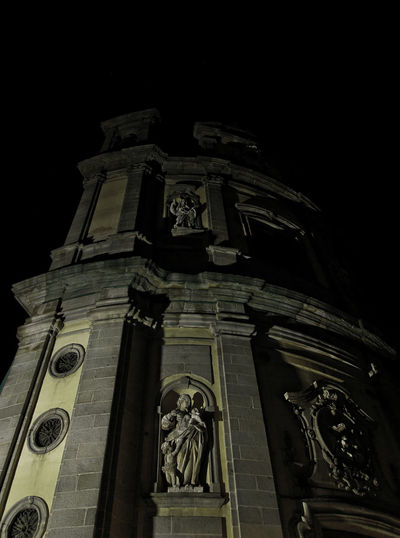 Architecture Barroco Catholic Church Church Dark Façade Low Angle View Madrid Neoclassical Ornate Place Of Worship Religion Shadows Statue Tourism Tourism In Madrid Travel Destinations Dramatic Angles