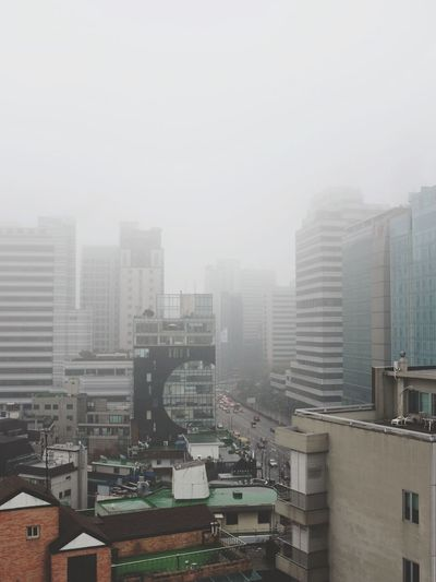 How's The Weather Today? Foggy Morning EyeEm In Seoul Cityscapes Urban Landscape Open Edit Fuji X100s