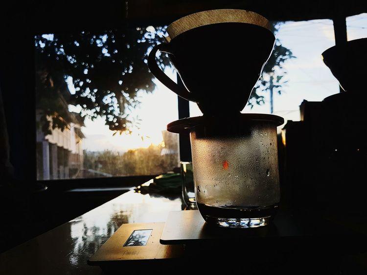 Karena pahit kopi lebih enak di banding pahit hidup..