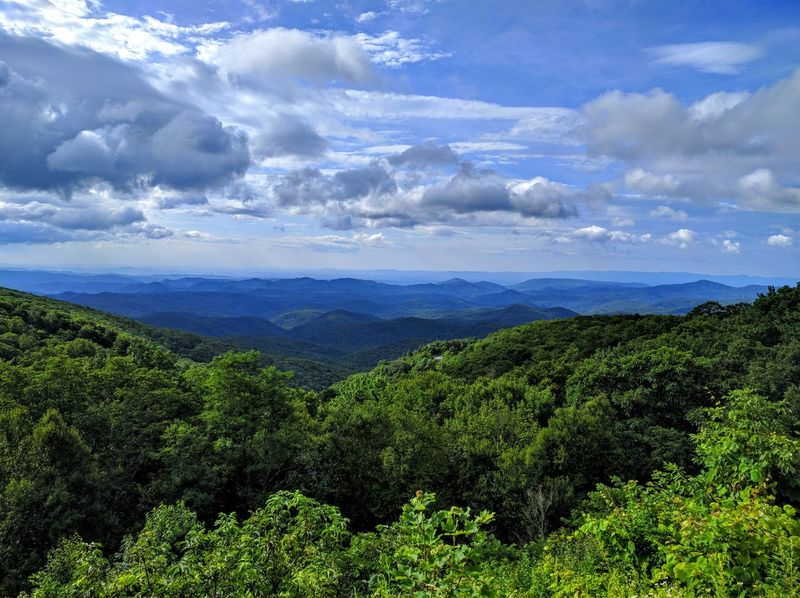 Nature Blue Blue Color Green Color Green Landscape Sky Growth Outdoors Beauty In Nature No People Scenics Cloud Forest Trees Blue Ridge Mountains Grandfather Mountain Mountains Horizon Endless Sky Endless Blue Skyline Cloudy Beautiful Pieceful