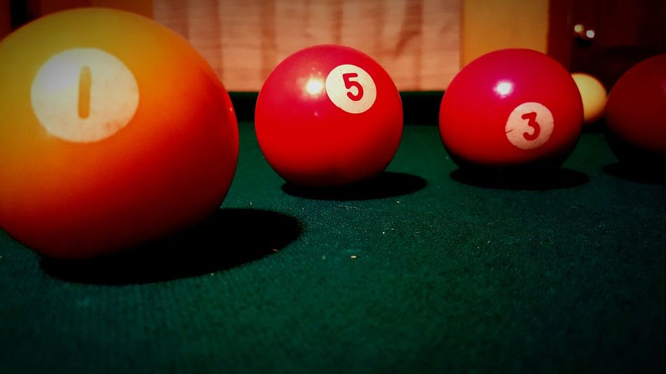 Pool balls. Colors Poolballs Random