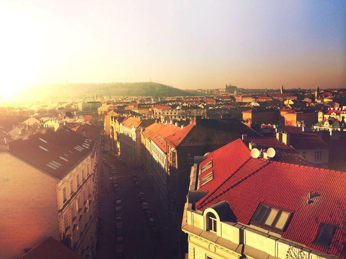 View from Vyšehrad Prague Vscocam VSCO Sunset