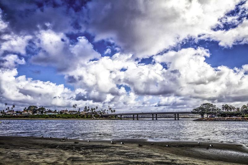 Beach Beauty In Nature Blue Sky California Cloud - Sky Clouds And Sky San Diego Sand Scenics Sea Sky Water
