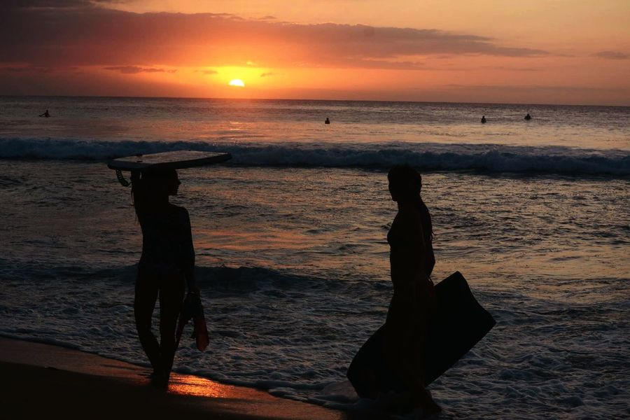 Sunset BodyBoarding Boogie Afternoon Session Waves, Ocean, Nature Surf Travel
