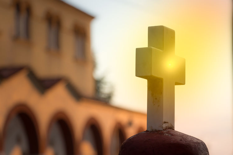 Abstract Architecture Background Belief Blurred Background Christ Christian Christianity Church Conceptual Conceptual Image Cross Crucifixion Easter Faith God Holy Iluminated Jesus Light Marble Nobody Orthodox Church Outdoors Religion Religious  Shining Silhouette Sky Spirituality Sun Sunlight Sunset Symbol White Cross