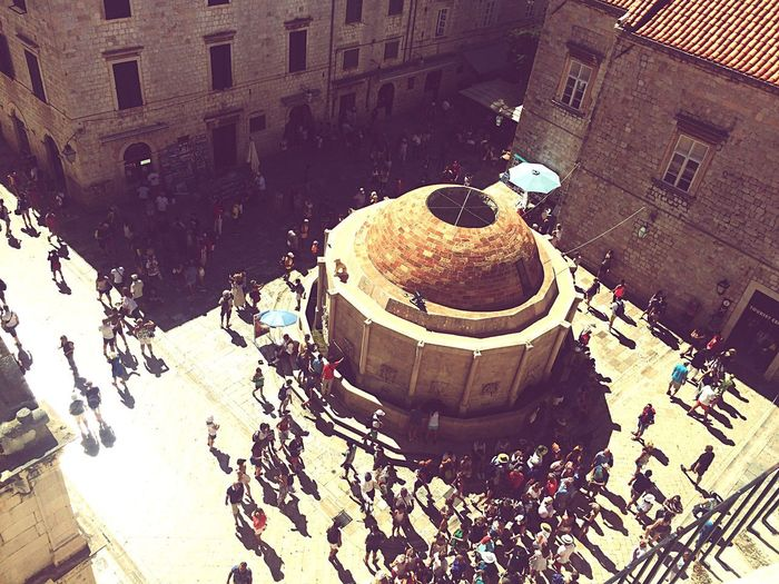 Dubrovnik Onofrio Fountain Architecture High Angle View Outdoors Dubrovnik Croatia City Trip Fountain Onofrio Fountain City View  Travel Destinations People Summer Travel Photography Game Of Thrones