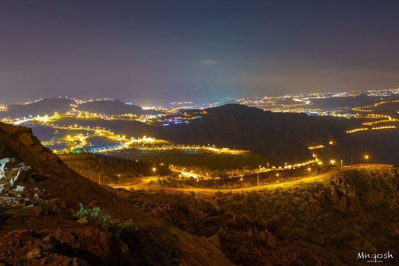 Illuminated Sky Night Environment Nature Mountain Landscape