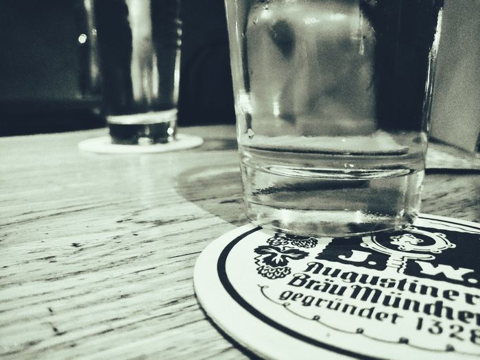 Beauty lies within the eye of the beer-holder... Close-up Augustiner HELLES Monochromatic Munich, Germany