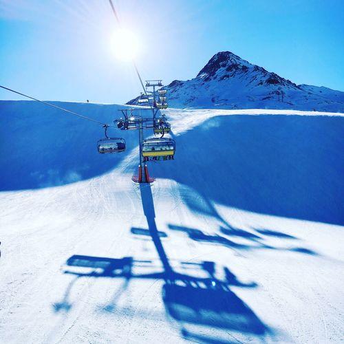 How I miss this view 💙☀️✌🏻️ Skiing Skifahren Austria Nauders Winter Mountains Sessellift View Happy Urlaub Holidays Showcase: February