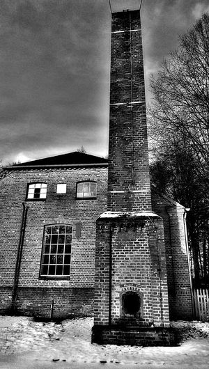 Industrial Historical Building Black And White Blackandwhite