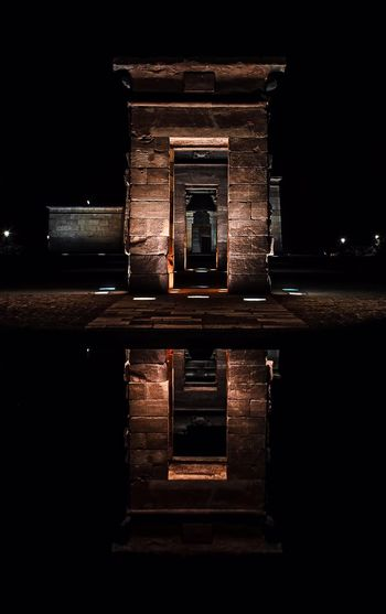 Templo de Debod SPAIN Madrid Night Photography Nightphotography Iluminated Antique Monument Egyptian No People Black Background Built Structure Night Architecture Building Exterior EyeEmNewHere Colour Your Horizn My Best Travel Photo