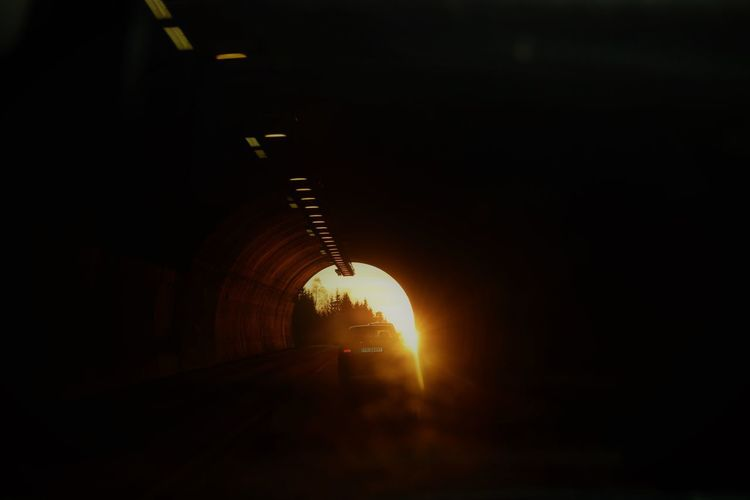 Architecture Hope Light In The Tunnel Lys I Tunnellen Sunset The Way Forward Transportation Tunnel