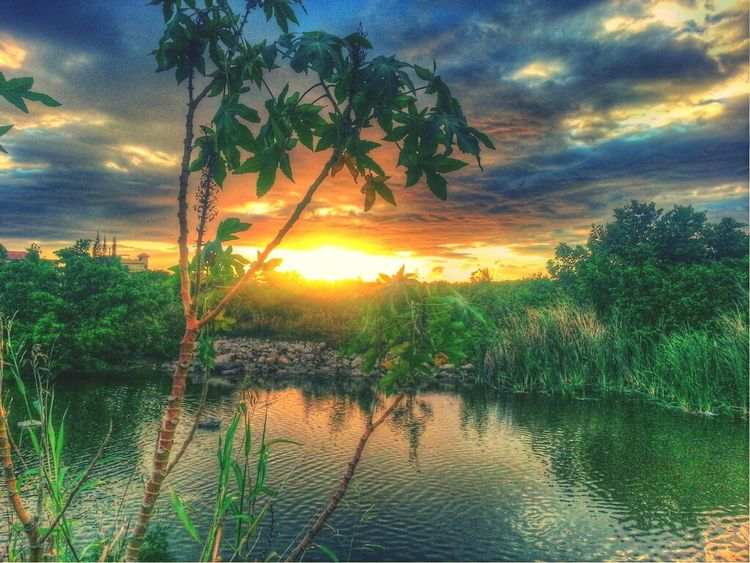 Reflection Sunset Nature Taking Photos HDR Enjoying The Sunset Clouds And Sky Skyporn Sky_collection Eye4photography