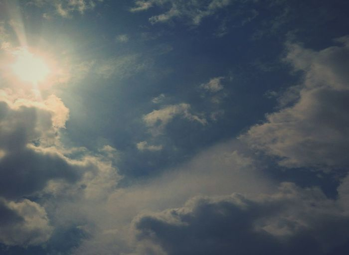Cloudscape Cloud - Sky Backgrounds Sky Weather Nature Dramatic Sky Heaven Blue Outdoors No People Sky Only Abstract Sun Day Beauty In Nature Storm Cloud Space first eyeem photo