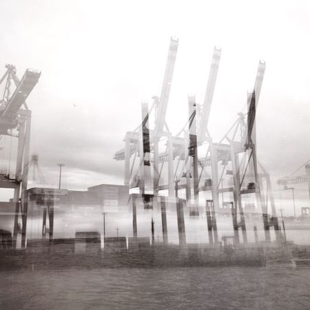 Industrial Industrial Landscapes Collage Habour