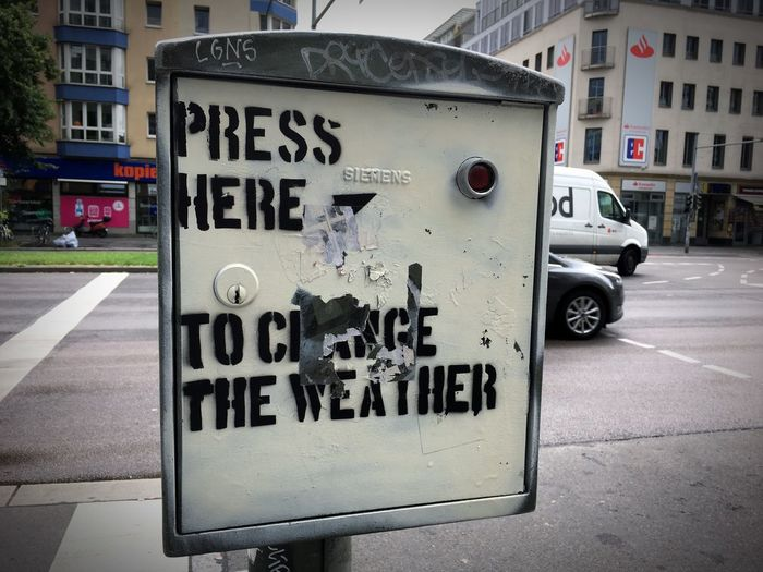 Press here to change the weather Berlin Frankfurter Allee Bad Weather Button Press The Button